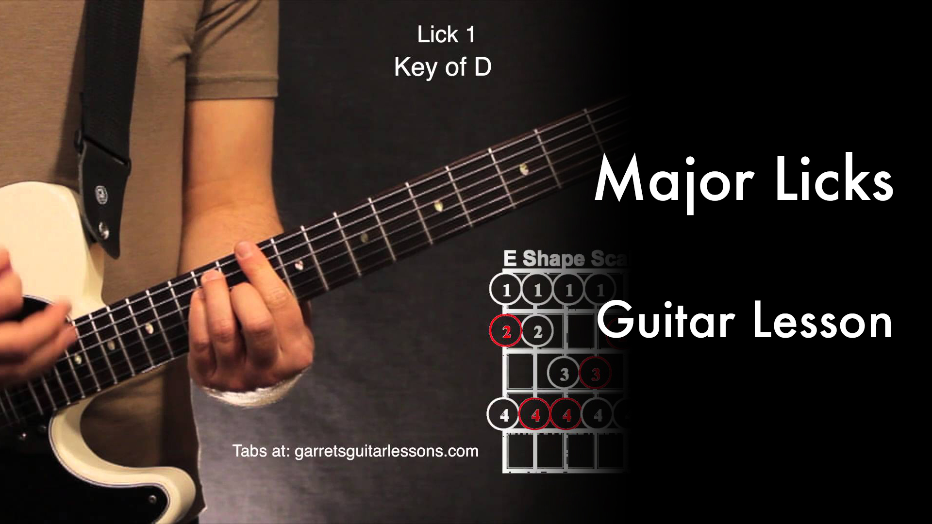 Major Licks • Garret's Guitar Lessons